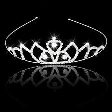 Bridal Headband Flower Girl Hair Jewelry Rhinestone Crown Tiara J2V2
