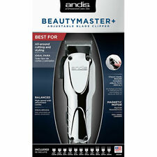 Andis Beauty Master+ Adjustable Blade Clipper #66360 + 9pc Guides + Warranty
