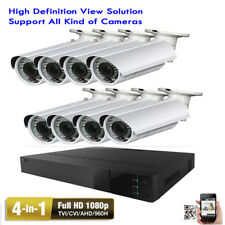 8Ch Hdmi Dvr 1080P 4-in-1 2.6Mp 2.8-12mm Zoom Lens Bullet Security Camera System