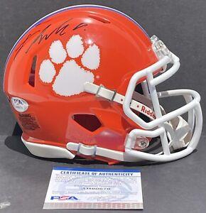Frank Ladson Signed Autographed Clemson Tigers Mini Helmet Champs Psa/Dna