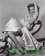 GALE ROBBINS 8X10 Lab Photo 1940s Sexy, Leggy Satin Elegant Gown Portrait