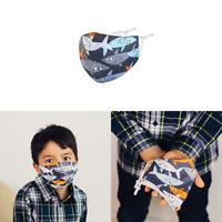 """Kinder Mund-Nasen-Maske Stoffmaske Gesichtsmaske  """"Sharks"""" Hai 100 % Baumwolle"""