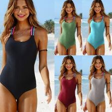 2018 Womens Swimwear Bikini One Piece Push-Up Padded Monokini Swimsuit Beachwear