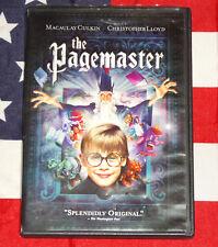 The Pagemaster (DVD, 1994, Sensormatic) Macaulay Culkin, Christopher Lloyd