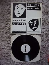 Theatre Of Hate He Who Dares Wins Leeds White Label Test Vinyl A1 B1 Matrix