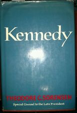 KENNEDY by Ted Sorensen 1965 HCDJ Stated First Edition Vintage Used
