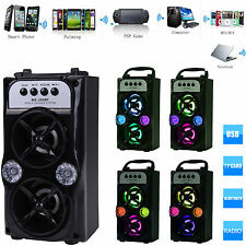 Bluetooth Dual Speaker Portable Indoor/Outdoor Wireless Speakers USB/TF/AUX/FM