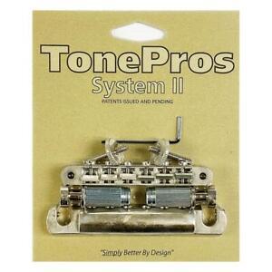 TonePros ABR1 Tune-O-Matic Bridge & Aluminum Tailpiece Set LPV02-AN Aged Nickel