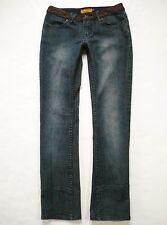 LUXIRIE by LRG Size 27 (5) Slim Leg Straight Dark Wash Womens Jeans Stretch Low