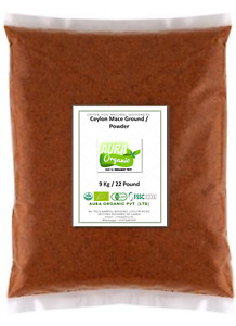 Mace Ground Fine Powder Certificated Organic Vegan Herbs Spices Seasonings