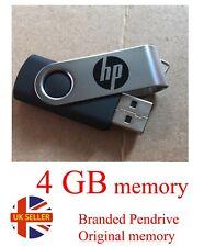 4GB USB2.0 Pen Drive Thumb U Disk Swivel 4gb Flash Memory ORIGINAL Stick HP