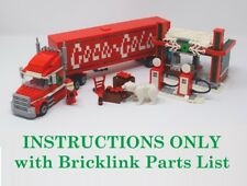 Winter Village Coca Cola Truck INSTRUCTIONS ONLY for LEGO Bricks (Christmas)