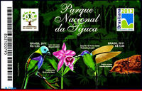 3174 BRAZIL 2011 TIJUCA NATL PARK, BIRDS, FLOWERS ,HUMMINGBIRDS ,FAUNA FLORA,MNH
