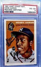 1954 Topps Hank Aaron Signed PSA/DNA Certified - Rookie Reprint - #/1954