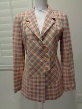 CHLOE Women's pink checkered Blazer Jacket Coat SZ 42/Large