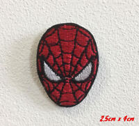 Spiderman face Movie Cartoon Art Badge Iron or Sew on Embroidered Patch