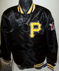 PITTSBURGH PIRATES MLB STARTER Snap Down Jacket Sping/Summer BLACK