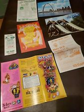 Vintage Amusement Park Brochure & Other Paper Items Six Flags St Louis Post Card