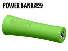 Power Bank Móvil 2600MAH Disponible Negro-Blanco-Verde Manzana-Fucsia-Morado