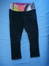 Lululemon Wunder Under Crop Pants Sz 4 Multi Unicorn Tears Coal Legging HTF Rare