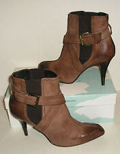 DONALD J PLINER SUSIE Women's SPAIN Brown Leather Dress Fashion Ankle Boots 8 M