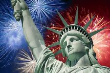 Fireworks / 4th of July - Statue of Liberty -  Edible Cake Frosting Sheet