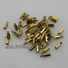 50Pcs M3x10+6mm Female To Male Brass Hexagonal Stand-Off Pillars PCB Mount