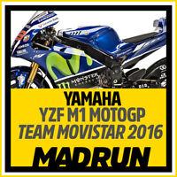 Kit Adesivi Yamaha YZF M1 - Team Movistar MOTOGP 2016  - High Quality Decals