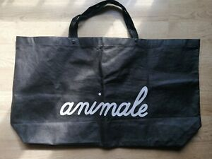 Large ANIMALE Bag Shopping Clothes Laundry Storage Carry Black Woman Brand Logo