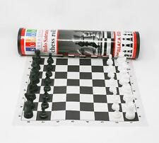 Sudor Plastic Tournament Chess Set Roll-up Vinyl Board with Chess Carry Bag