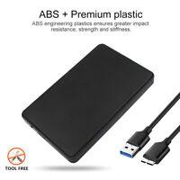 """Plug & Play 2.5"""" USB 3.0 SATA Box HDD Hard Disk Drive External Enclosure Case US"""