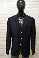 Giacca Blu Uomo BURBERRY Taglia Size XL Blazer Lana Jacket Man Veste Homme