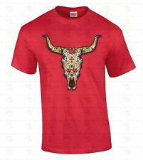 Day Dead Bull Sugar Skull T-shirt Day Of The Dead Shirt Dia De Los Muertos tee