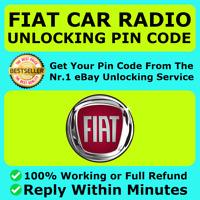 RADIO UNLOCK CODE FIAT ALFA ROMEO CITROEN CONTINENTAL - VP1 & VP2 + Uconnect