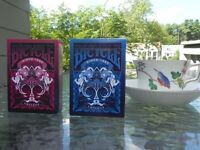 Set of 2 Bicycle Emperor Blue & Red Playing Card Limited Edition Decks New