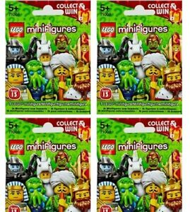 Lego MiniFigures series 13 Bundle 4X New Sealed Blind Bags Packs