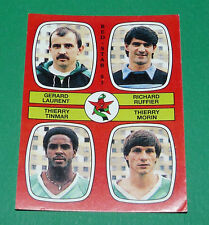 N°366 LAURENT RUFFIER TINMAR MORIN RED STAR D2 PANINI FOOTBALL 87 1986-1987