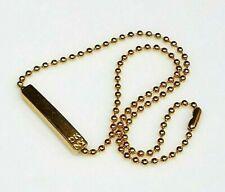"DKNY Donna Karan Gold Tone Textured Metal Bar Key Chain Tag Purse Tote 13"" VTG"