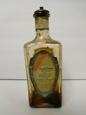 Antique Bottle Remiller Perfumers Red Feather Hair Tonic Barber Shop Display