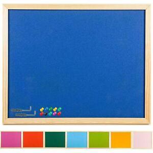 90x60cm Large Cork Notice Board +Fixings +20 Pins Colour Bulletin Memo Work Push