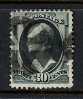 SCOTT 154 1870 30 CENT HAMILTON BANKNOTE REGULAR ISSUE USED F-VF CAT $170!