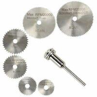 6x HSS Kreissägeblatt 22-50mm inkl. 1 Aufspanndorn für Dremel, Proxxon etc
