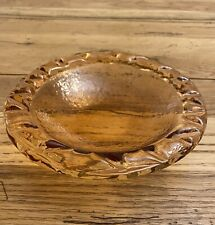 """fire and light recycled glass 6"""" Copper Sea grass Bowl."""