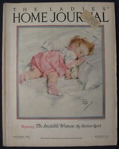 Ladies Home Journal Woman's Magazine Domestic Arts September 1924