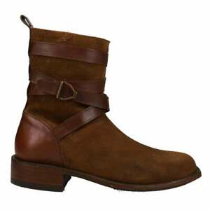 Lucchese Espresso Stead Suede Round Toe Wellington  Mens  Boots   Mid Calf  -