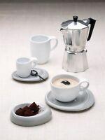 Kahla TAO 6 x Espresso Tasse 0,10 Ltr. mit Untertasse Neuware  weiß Mokka  Tasse