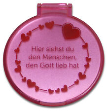 "Taschenspiegel ""Herzen"" - rosa (*NEU*)"