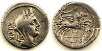 Republica Romana-Fabia. Denario. 104 a.C. Roma. Plata 3,6 g. Escasa
