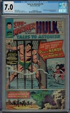 CGC 7.0 TALES TO ASTONISH #70 1ST SOLO APPEARANCE OF THE SUB-MARINER OW/W PAGES