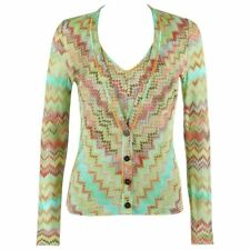 MISSONI 2 Piece Multicolor Chevron Knit V-Neck Cardigan Tank Top Twin Set